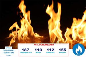 doğal gaz yangın